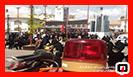 استقرار خودروهای آتش نشانی در پیاده راه فرهنگی شهر رشت در روز عاشورای حسینی/ آتش نشانی رشت