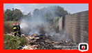 آتش سوزی علفزارها  و ضایعات در سطح شهر رشت/ آتش نشانی رشت