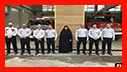 بازدید فاطمه شیرزاد رییس کمیسیون بهداشت، محیط زیست و خدمات شهری شورای اسلامی شهر رشت از ایستگاه 14 آتش نشانی