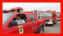 برگزاری رژه ناوگان خودرویی دستگاههای امدادی شهر رشت به مناسبت هفته پدافند غیر عامل/ آتش نشانی رشت