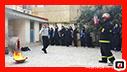 آموزش ایمنی و آتش نشانی در دبیرستان وارسته با محوریت پدافند غیر عامل/ آتش نشانی رشت