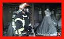 مهار آتش سوزی مزون لباس عروس در رشت/ آتش نشانی رشت