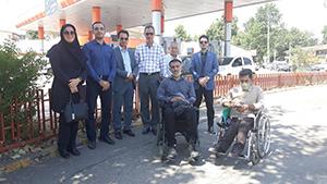 گزارش تصویری (بازدید از وضعیت مناسب سازی پیاده رو خیابان پرستار و ناوگان حمل و نقل شهرداری رشت توسط نمایندگان کمیته مناسب سازی استان )